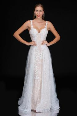 Style 3159 Nina Canacci Nude Size 6 Tall Height Lace Mermaid Dress on Queenly