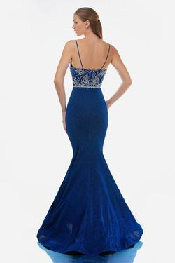 Style 3160 Nina Canacci Blue Size 14 Tall Height Mermaid Dress on Queenly