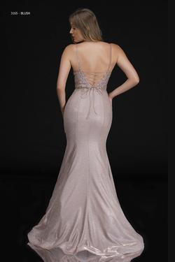 Style 3165 Nina Canacci Pink Size 12 Mermaid Dress on Queenly