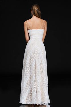Style 4199 Nina Canacci White Size 10 Wedding Tall Height Straight Dress on Queenly