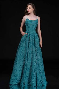 Queenly size 0 Nina Canacci Green Ball gown evening gown/formal dress