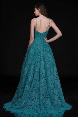 Style 5141 Nina Canacci Green Size 12 Teal Tall Height Ball gown on Queenly
