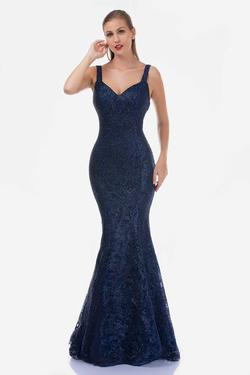 Style 5142 Nina Canacci Blue Size 16 Tall Height Mermaid Dress on Queenly