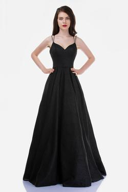 Style 5144 Nina Canacci Black Size 4 Corset Tall Height A-line Dress on Queenly