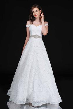 Style 5146 Nina Canacci White Size 4 Prom Tall Height A-line Dress on Queenly