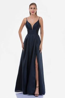 Queenly size 8 Nina Canacci Blue Side slit evening gown/formal dress