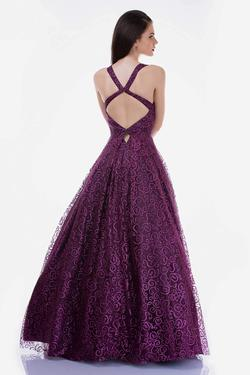 Style 6520 Nina Canacci Purple Size 12 Pattern Prom A-line Dress on Queenly
