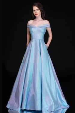 Queenly size 22 Nina Canacci Blue A-line evening gown/formal dress