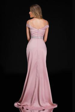 Style 6536 Nina Canacci Light Pink Size 22 Side slit Dress on Queenly