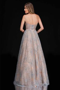 Style 6541 Nina Canacci Nude Size 4 Tall Height A-line Dress on Queenly