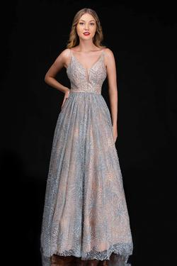 Style 6541 Nina Canacci Nude Size 14 Tall Height A-line Dress on Queenly
