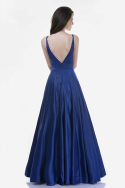 Style 6544 Nina Canacci Blue Size 2 Backless Tall Height A-line Dress on Queenly
