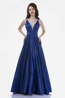 Style 6544 Nina Canacci Blue Size 4 Backless Tall Height A-line Dress on Queenly