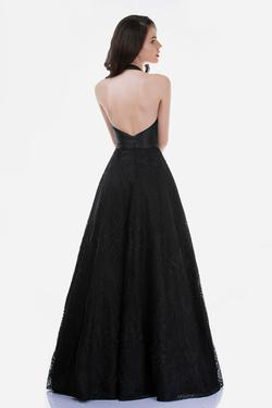 Style 7030 Nina Canacci Black Size 4 Backless Halter Tall Height A-line Dress on Queenly