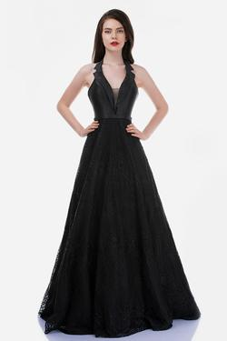 Style 7030 Nina Canacci Black Size 6 Halter Backless Tall Height A-line Dress on Queenly