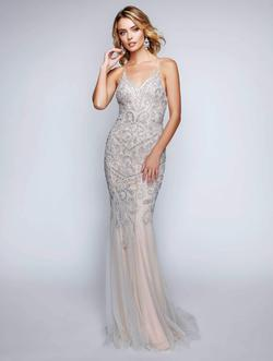 Style 8162 Nina Canacci Nude Size 8 Backless Tall Height Straight Dress on Queenly