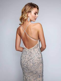 Style 8162 Nina Canacci Nude Size 10 Pageant Backless Tall Height Straight Dress on Queenly