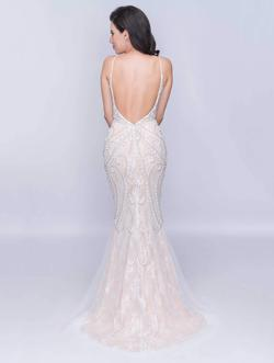 Style 8164 Nina Canacci White Size 4 Backless Tall Height Mermaid Dress on Queenly