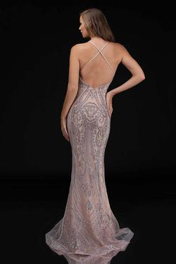 Style 8175 Nina Canacci Gold Size 8 Halter Pageant Mermaid Dress on Queenly