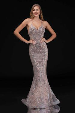 Style 8175 Nina Canacci Gold Size 18 Halter Pageant Plus Size Mermaid Dress on Queenly