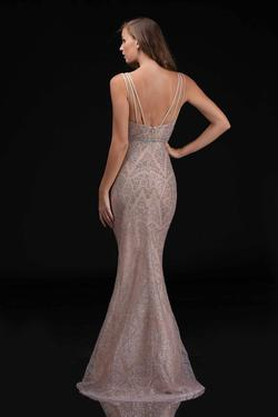 Style 8181 Nina Canacci Gold Size 2 Pageant Tall Height Mermaid Dress on Queenly