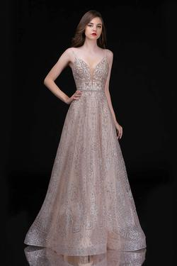 Style 8187 Nina Canacci Gold Size 6 Prom Tall Height A-line Dress on Queenly