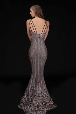 Style 8190 Nina Canacci Black Size 6 Backless Plunge Mermaid Dress on Queenly