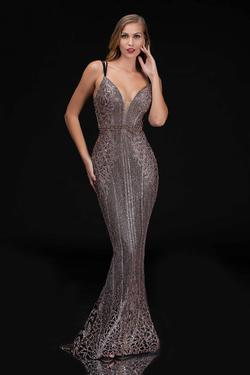 Style 8190 Nina Canacci Black Size 12 Backless Plunge Mermaid Dress on Queenly