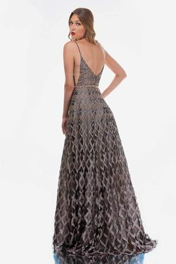Style 8191 Nina Canacci Gold Size 12 Backless Tall Height A-line Dress on Queenly