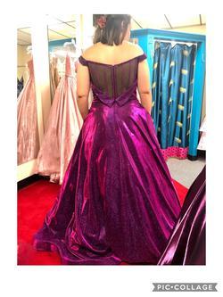 Ellie Wilde Purple Size 12 Velvet Ball gown on Queenly