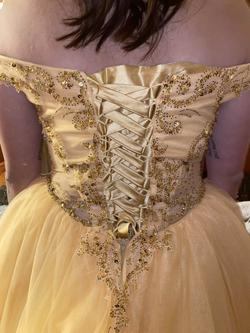 Yellow Size 10 Ball gown on Queenly
