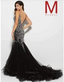 Style 82517 Mac Duggal Black Size 8 Sweetheart Train Mermaid Dress on Queenly