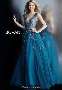 Jovani Blue Size 2 Ball gown on Queenly