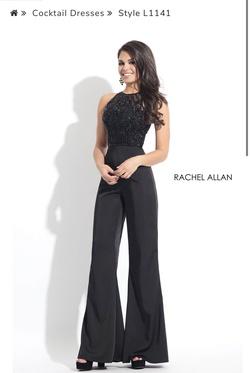 Queenly size 4 Rachel Allan Black Jumpsuit evening gown/formal dress