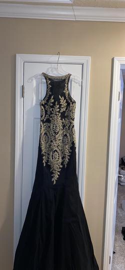 Mori Lee Black Size 6 Sequin Jewelled Mermaid Dress on Queenly