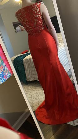 Xcite Prom Red Size 6 Prom Mermaid Dress on Queenly