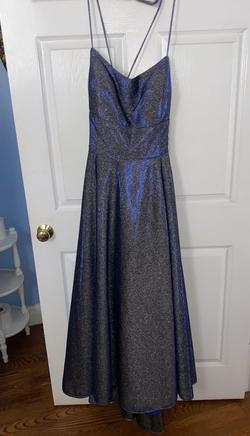 Queenly size 22  Blue A-line evening gown/formal dress