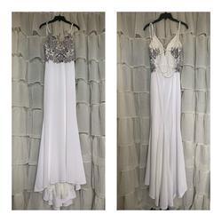 Faviana White Size 4 Backless Corset A-line Dress on Queenly