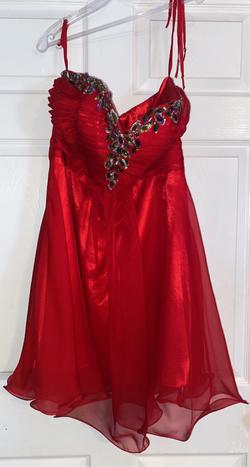 Red Size 10 A-line Dress on Queenly