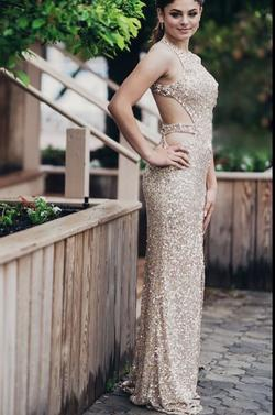 Queenly size 0  Gold Straight evening gown/formal dress