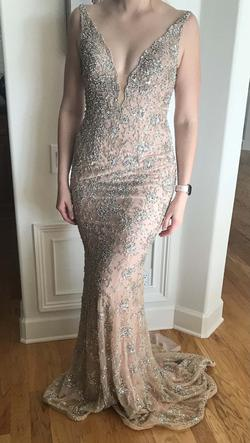 Jovani Multicolor Size 4 Pageant Silk Straight Dress on Queenly
