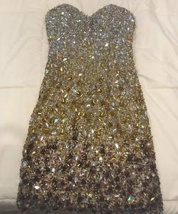 Queenly size 4 Jovani Multicolor Cocktail evening gown/formal dress