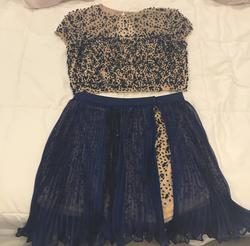 Queenly size 10 Sherri Hill Blue Cocktail evening gown/formal dress