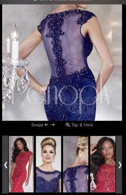 Panoply Royal Blue Size 0 Pageant Sequin Mermaid Dress on Queenly