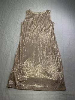 chelsea & Violet Gold Size 0 Sorority Formal Sequin Violet Cocktail Dress on Queenly