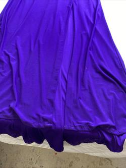 Morgan & Co Purple Size 12 Pageant Plus Size Side slit Dress on Queenly