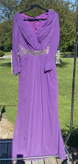 Queenly size 8 Dressale Purple Ball gown evening gown/formal dress