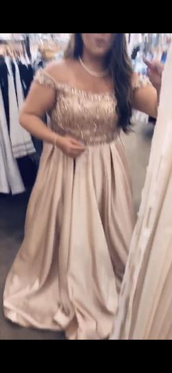 Gold Size 14 Ball gown on Queenly