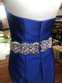 Jovani Blue Size 4 Prom Pageant Mermaid Dress on Queenly