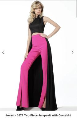 Jovani Multicolor Size 4 Hot Pink Pageant Jumpsuit Dress on Queenly
